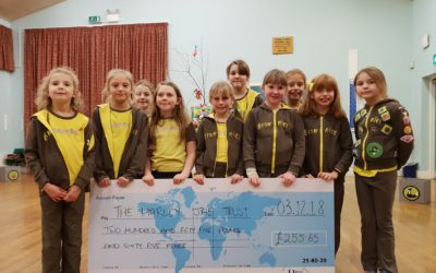 Gunthorpe Brownies hold Fun Fair Night for The Harley Jae Trust