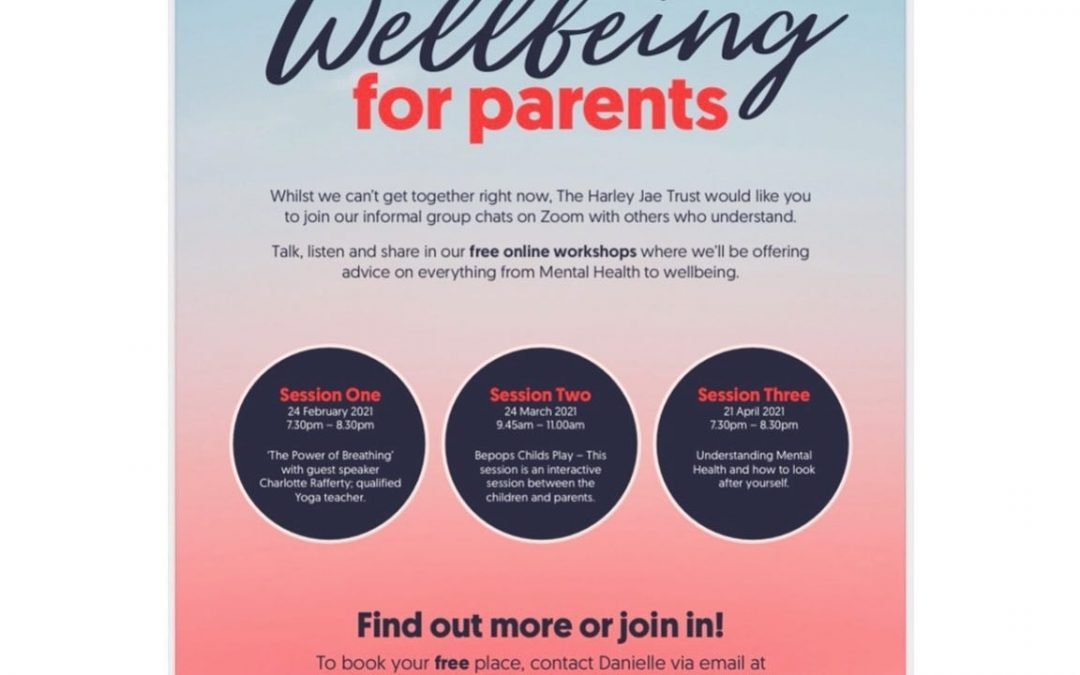 Well-being sessions for parent/carers